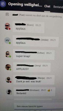 chat reacties Movares veilighiedsdag